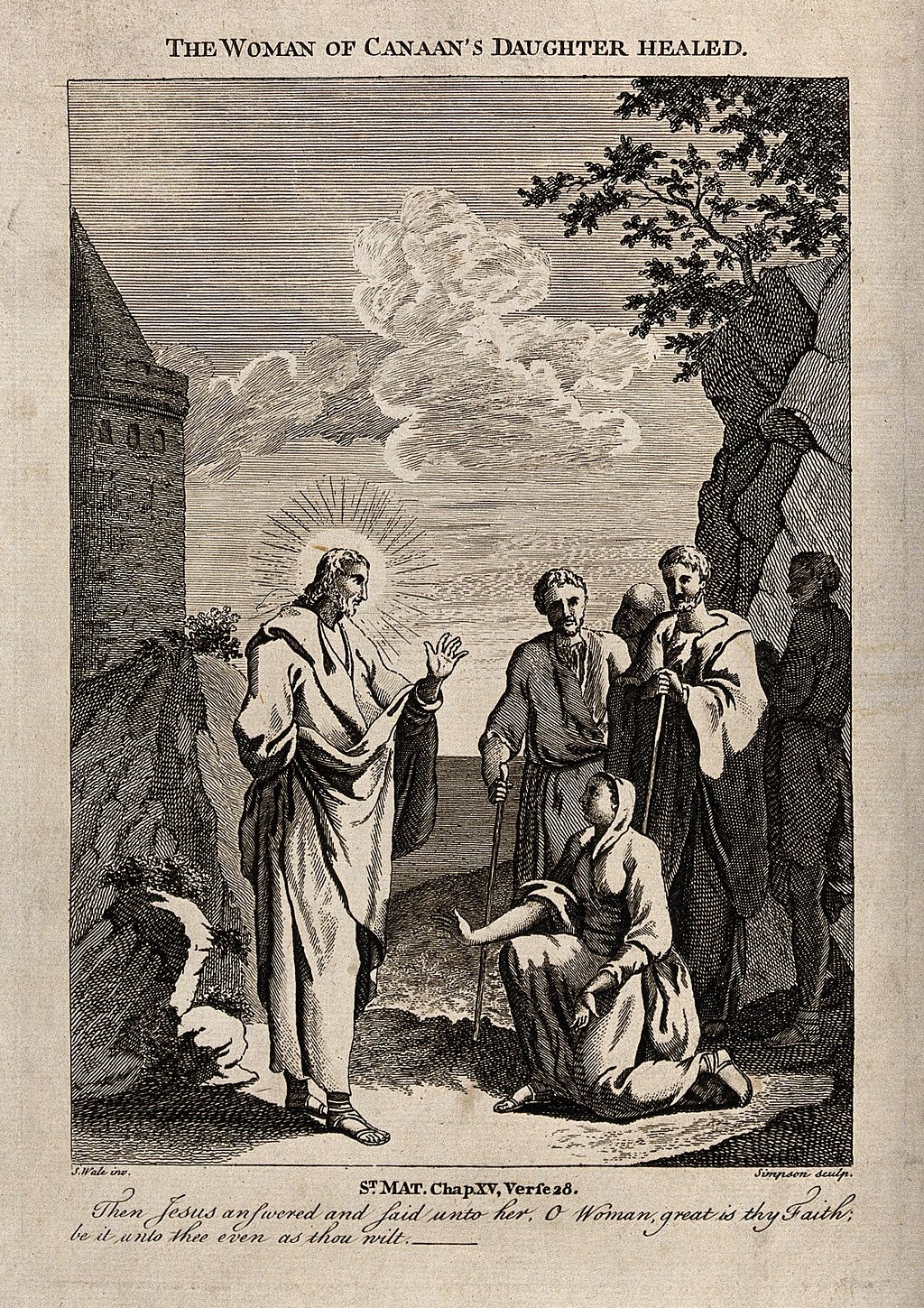 Christ_heals_the_daughter_of_the_woman_of_Canaan._Etching_by_Wellcome_V0034891