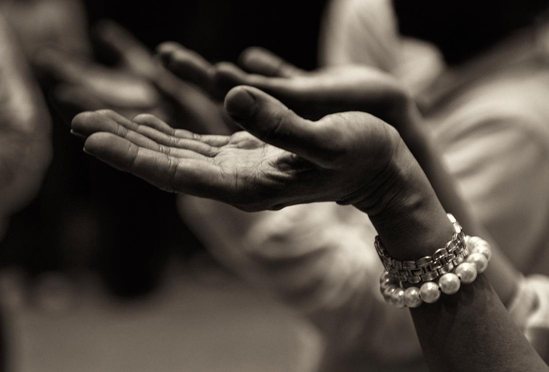 praying adult-black-and-white-blur-257037