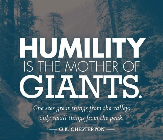 Humility mother of giants